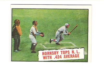 1961 Topps #404 Rogers Hornsby .424