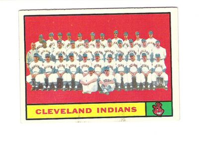 1961 Topps #467 Cleveland Indians TC