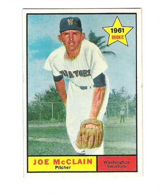 1961 Topps #488 Joe McClain RC