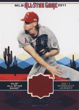 2011 Topps Update All-Star Stitches #AS9 Jered Weaver