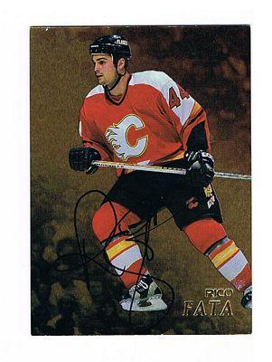1998-99 Be A Player Autographs Gold #171 Rico Fata