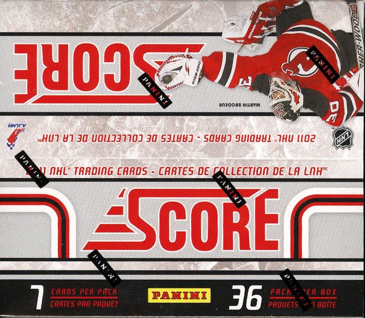2011-12 (2012) Score NHL Hockey Trading Cards Box