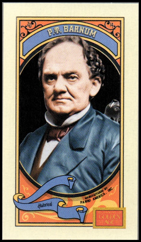 2014 Panini Golden Age Mini Croft's Swiss Milk Cocoa #16 P.T. Barnum