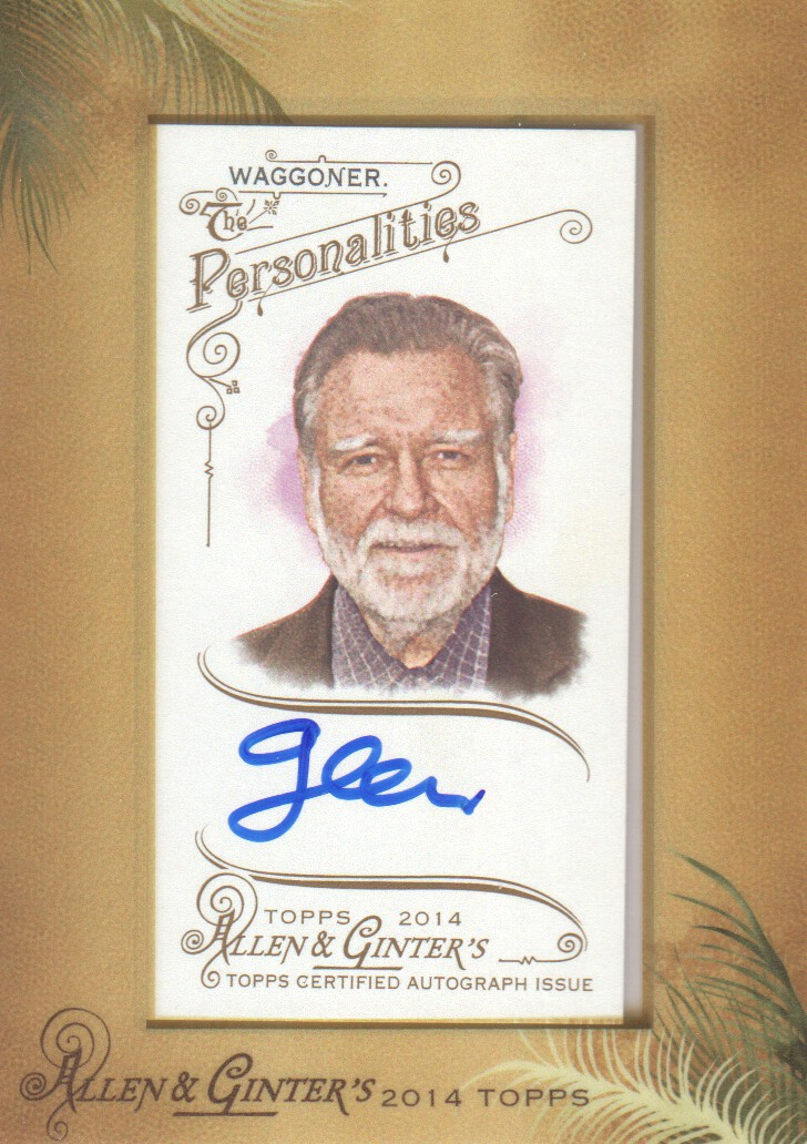 2014 Topps Allen and Ginter Framed Mini Autographs #AGAGW Glen Waggoner