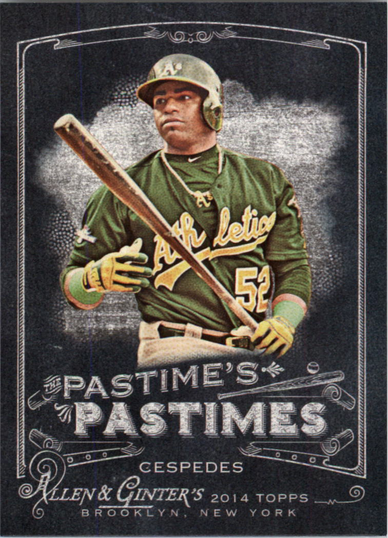 2014 Topps Allen and Ginter The Pastime's Pastime #PPYC Yoenis Cespedes