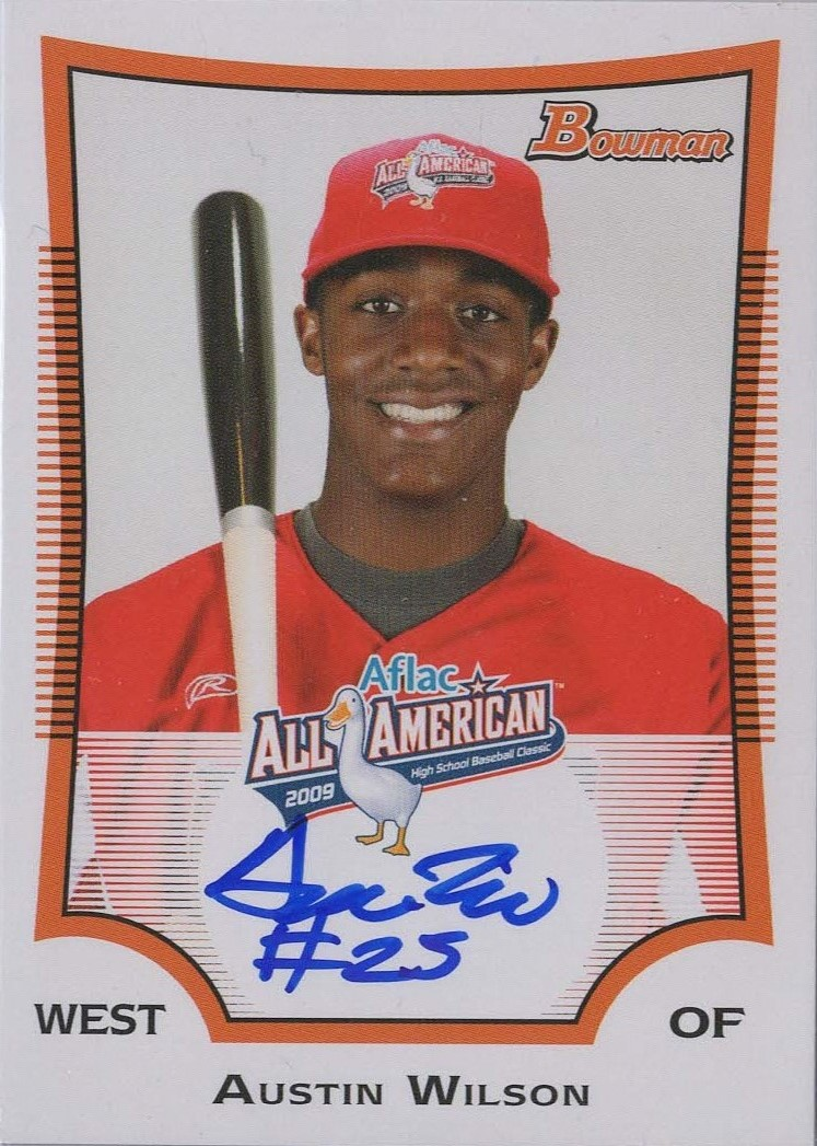 2009 Bowman AFLAC Autographs #AW Austin Wilson/225/Issued in 14 Bowman Chrome