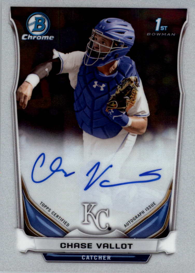 2014 Bowman Chrome Draft Draft Pick Autographs #BCACV Chase Vallot