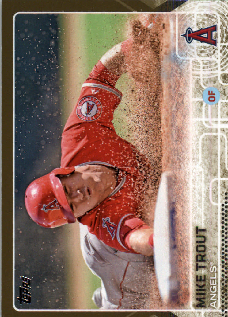2015 Topps Gold #300 Mike Trout