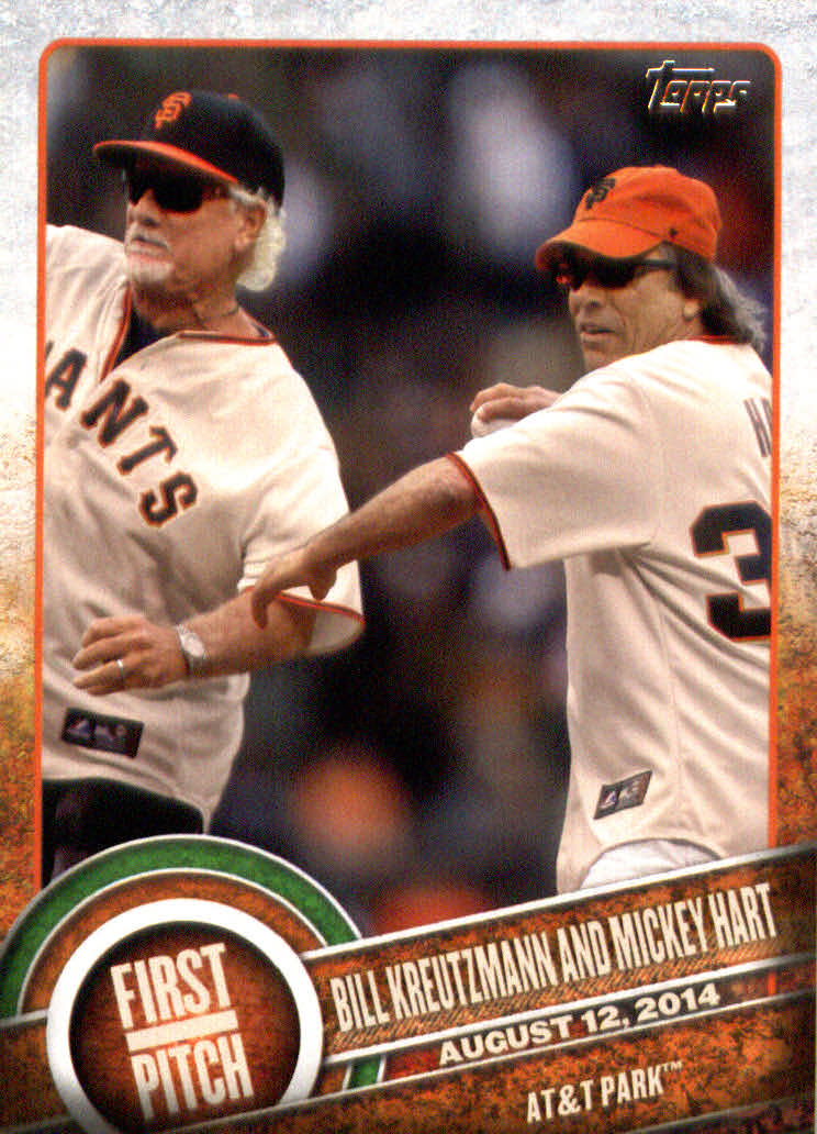 2015 Topps First Pitch #FP24 Bill Kreutzmann/Mickey Hart