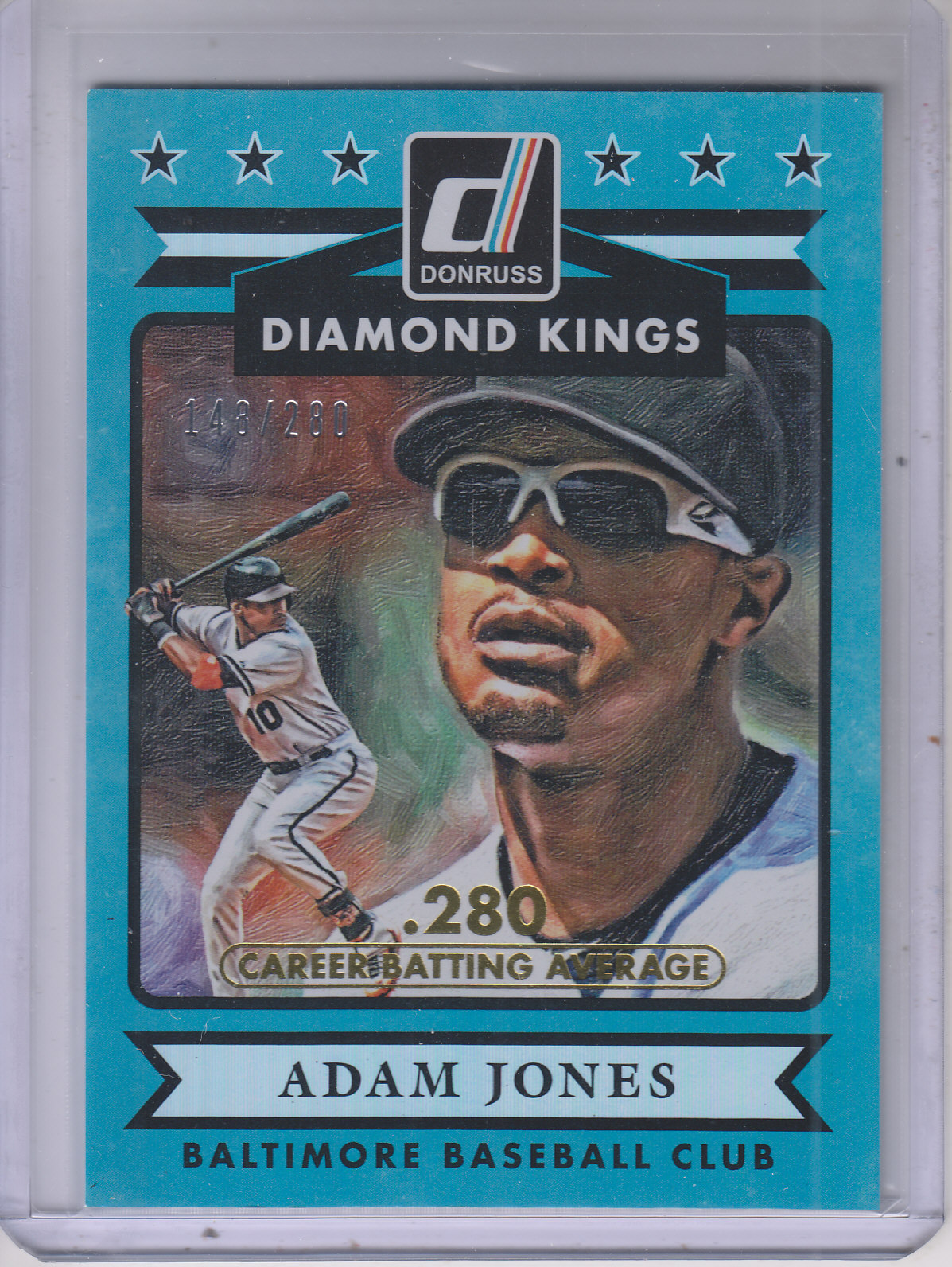 2015 Donruss Stat Line Career #3 Adam Jones DK/280