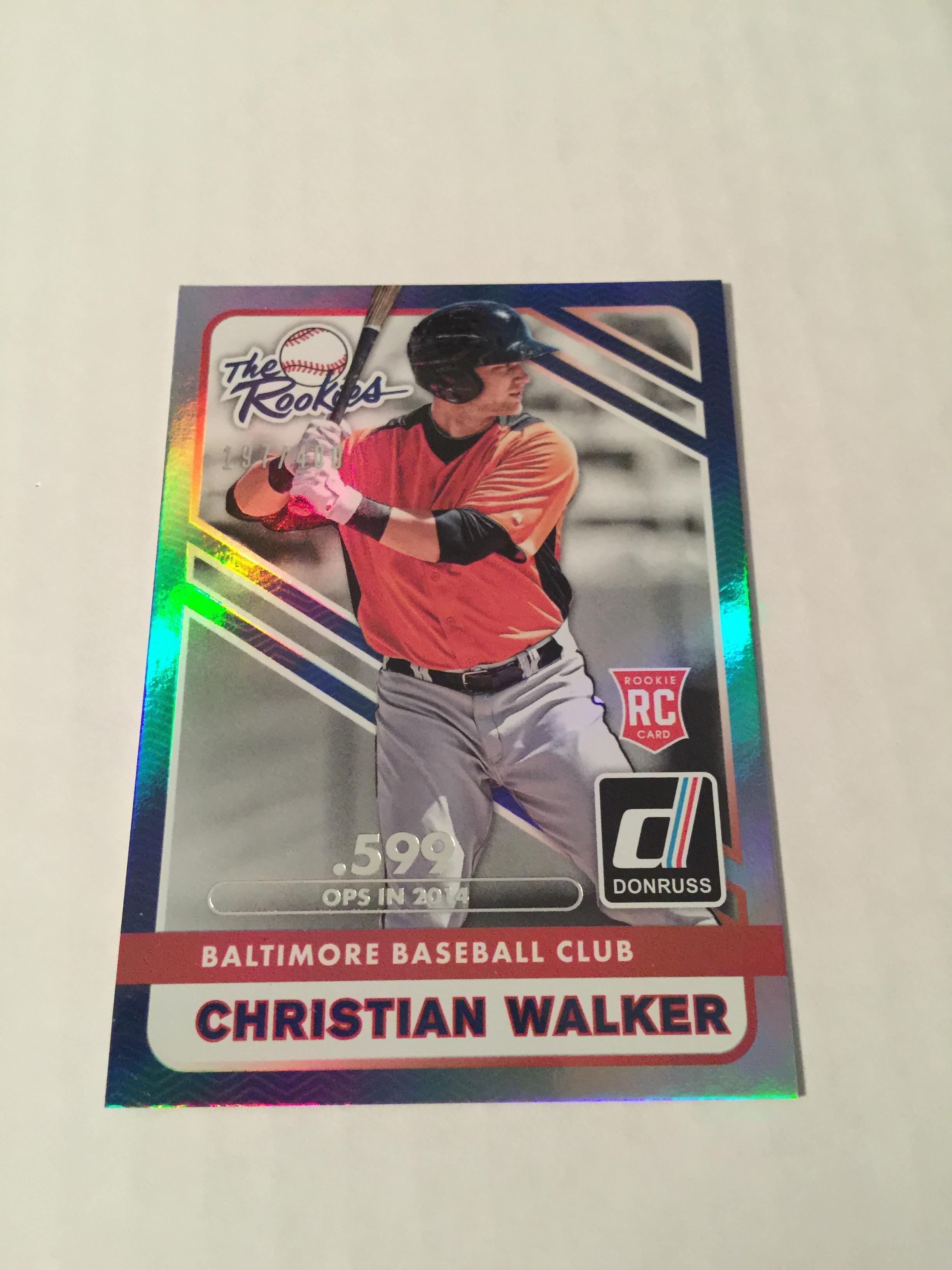 2015 Donruss The Rookies Stat Line Season #13 Christian Walker/400