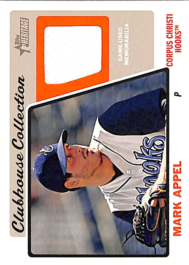 2015 Topps Heritage Minors Clubhouse Collection Relics #CCRMA Mark Appel