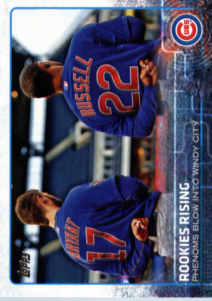 2015 Topps Update #US79 Rookies Rising/Kris Bryant/Addison Russell