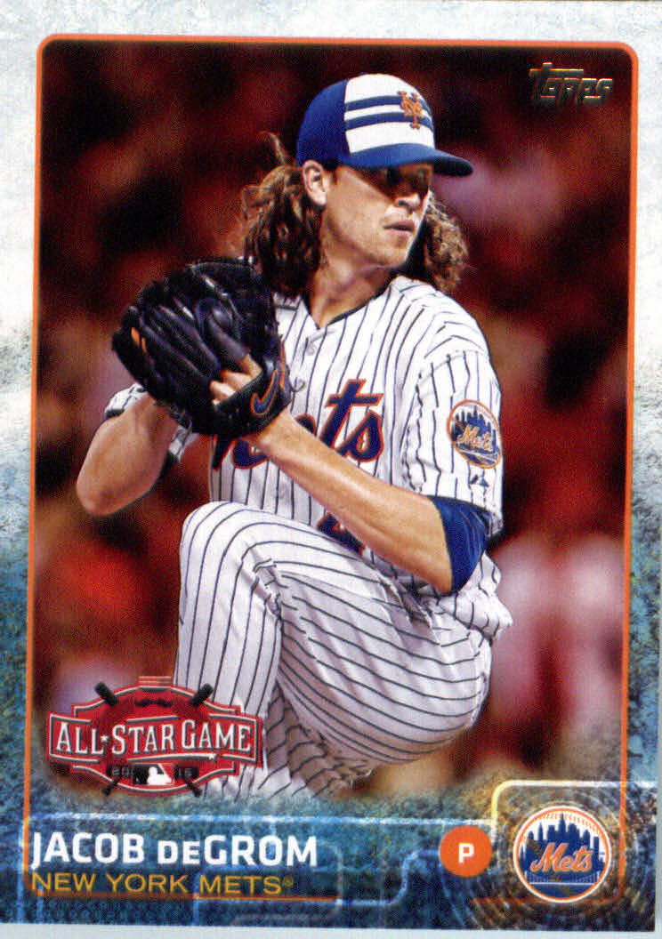 2015 Topps Update Series Rookie Sensations #RS-9 Jacob deGrom New York Mets Card