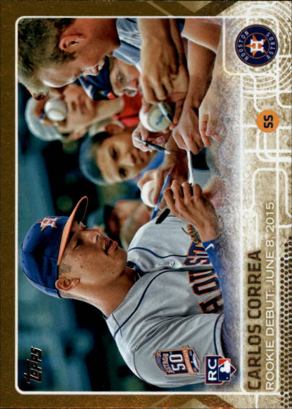 2015 Topps Update Gold #US251 Carlos Correa RD