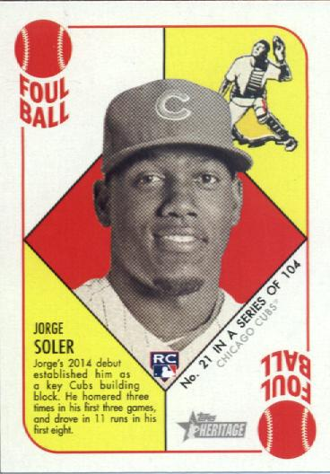 2015 Topps Heritage '51 Collection #21 Jorge Soler RC