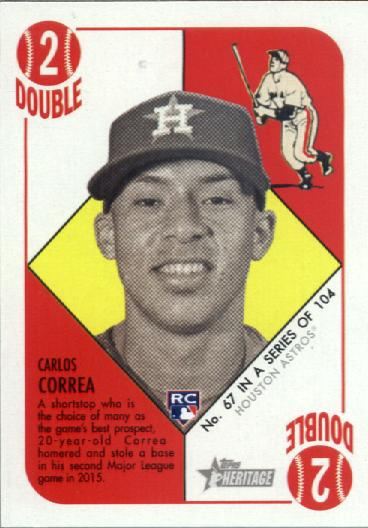 2015 Topps Heritage '51 Collection #67 Carlos Correa RC