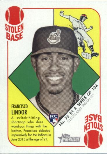 2015 Topps Heritage '51 Collection #75 Francisco Lindor RC