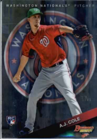 2015 Bowman's Best #80 A.J. Cole RC