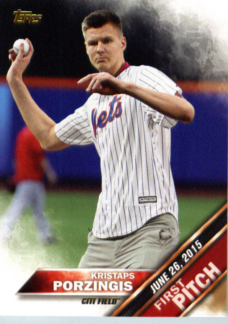 2016 Topps First Pitch #FP8 Kristaps Porzingis