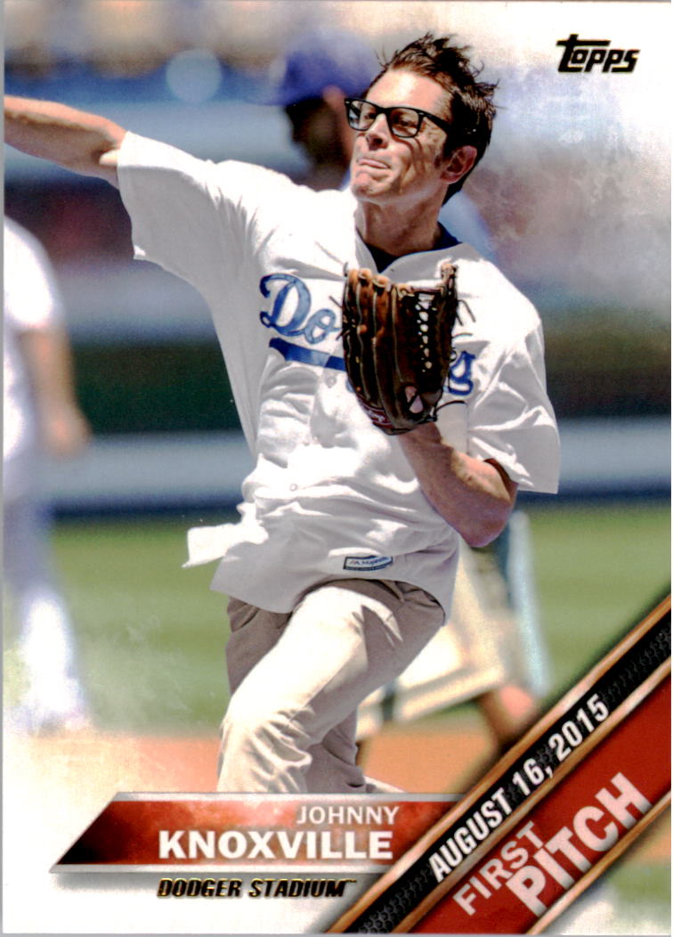 2016 Topps First Pitch #FP10 Johnny Knoxville