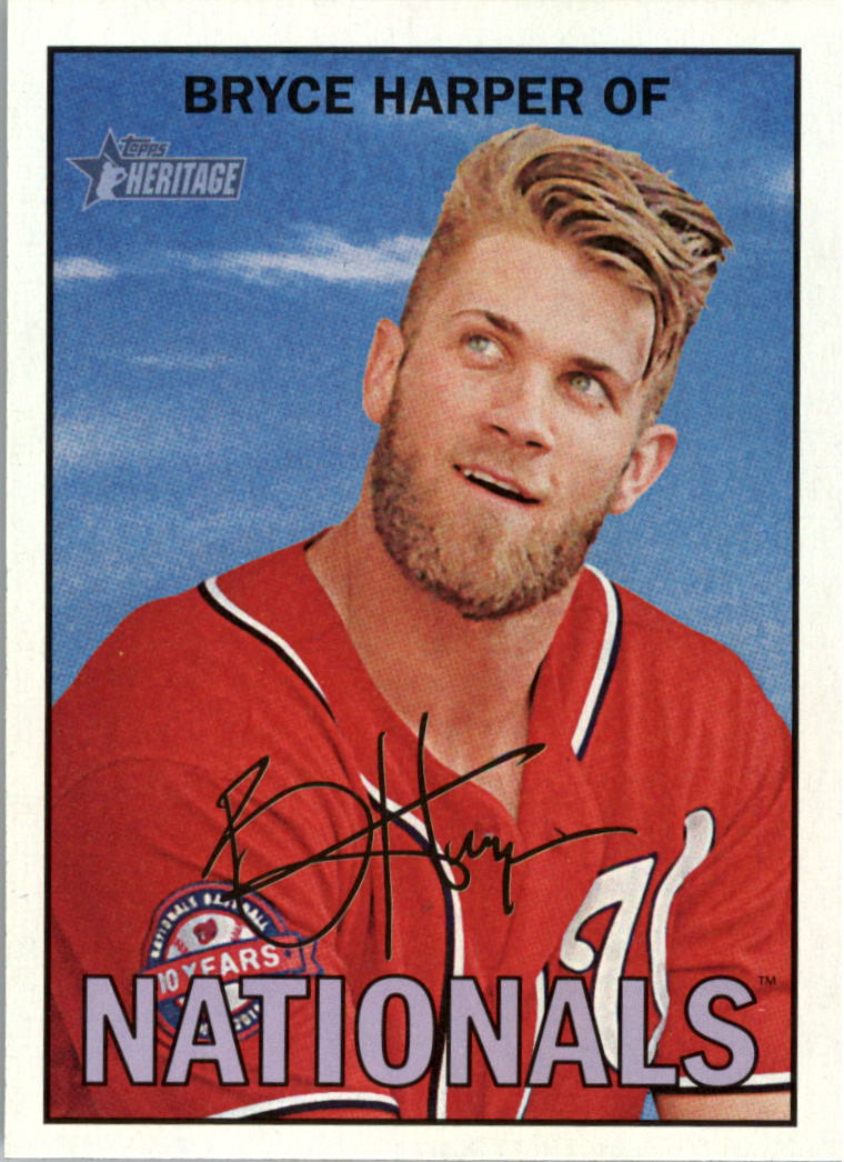 2016 Topps Heritage #450A Bryce Harper SP