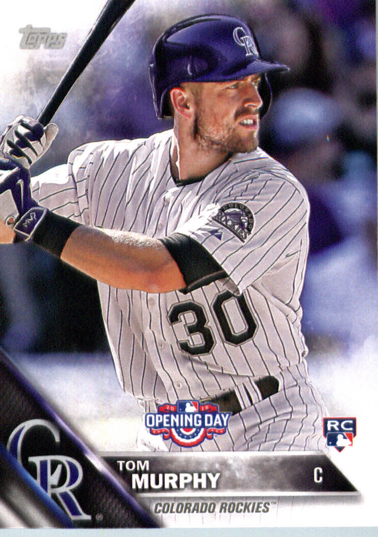Details About 2016 Topps Opening Day Baseball Card Od16 Tom Murphy Rookie