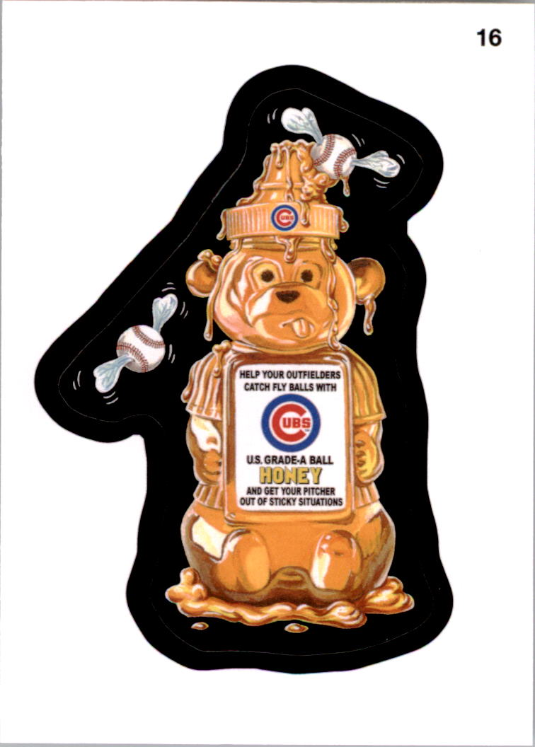 2016 Wacky Packages MLB #16 Cubs Honey