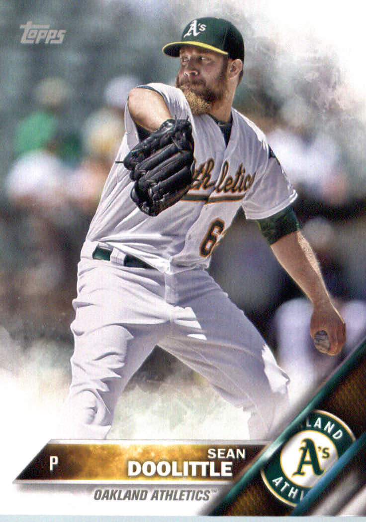 2016 A's Topps #OAK11 Sean Doolittle