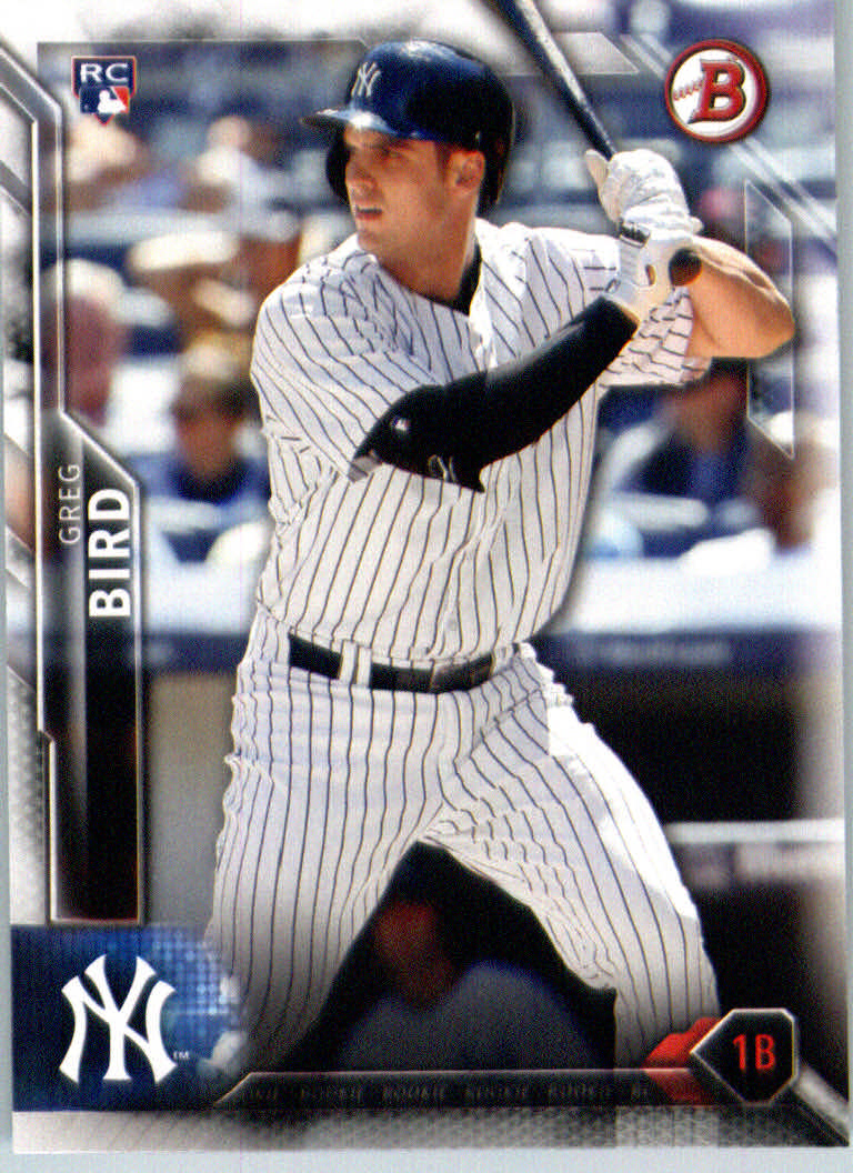 2016 Bowman #132 Greg Bird RC