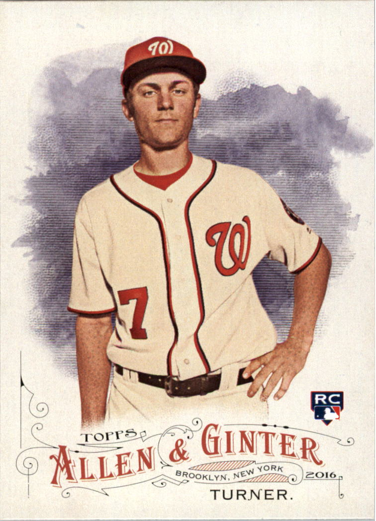 2016 Topps Allen and Ginter #342 Trea Turner SP RC