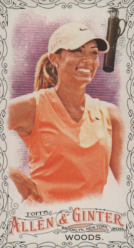 2016 Topps Allen and Ginter Mini Black #235 Cheyenne Woods