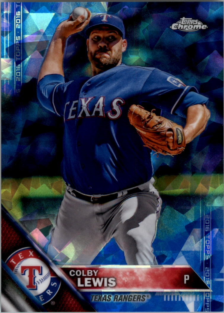 2016 Topps Chrome Sapphire Edition #305 Colby Lewis