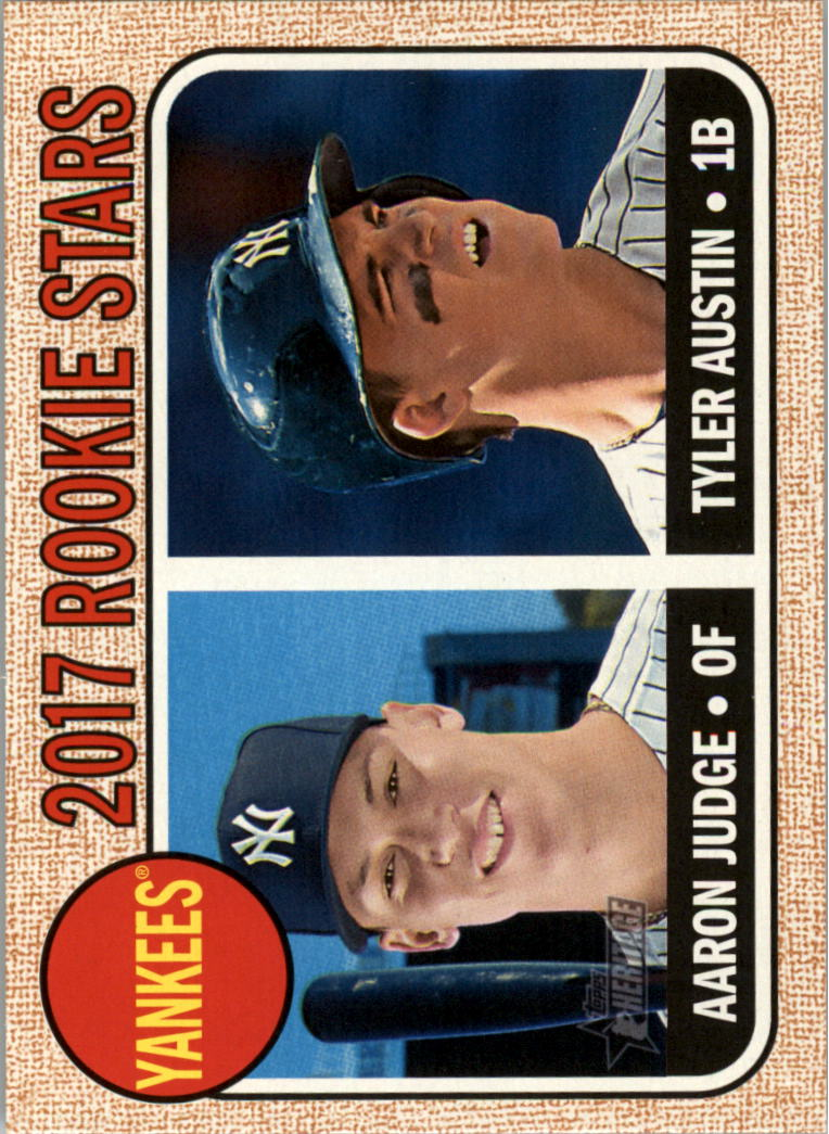2017 Topps Heritage #214A Aaron Judge RC/Tyler Austin RC