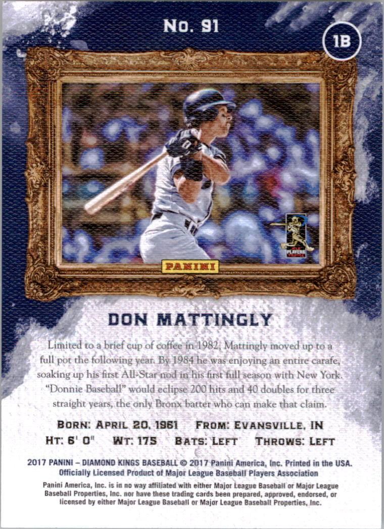 2017 Diamond Kings #91 Don Mattingly back image