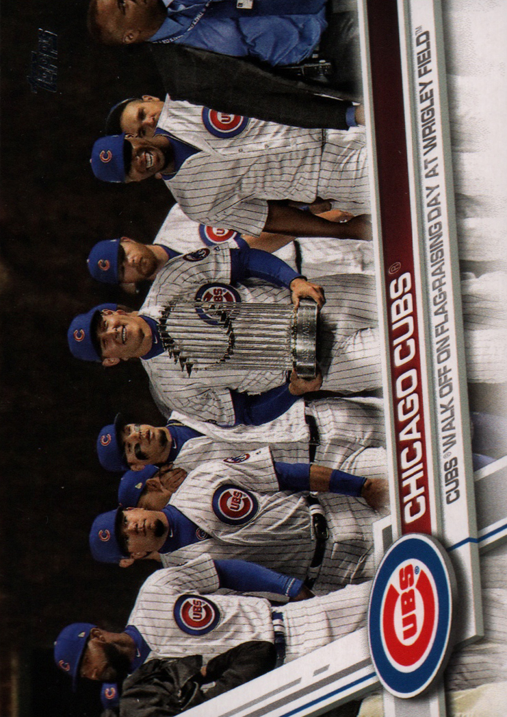 2017 Topps Update #US44 Chicago Cubs World Series Celebration