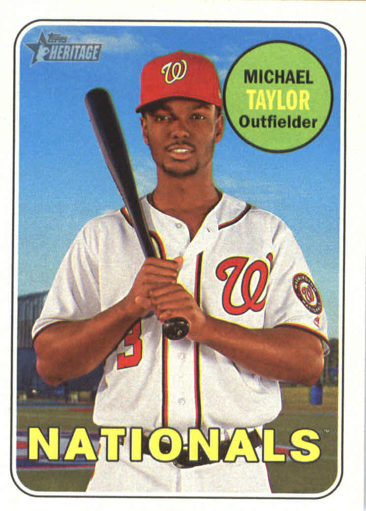 2018 Topps Heritage #372 Michael Taylor