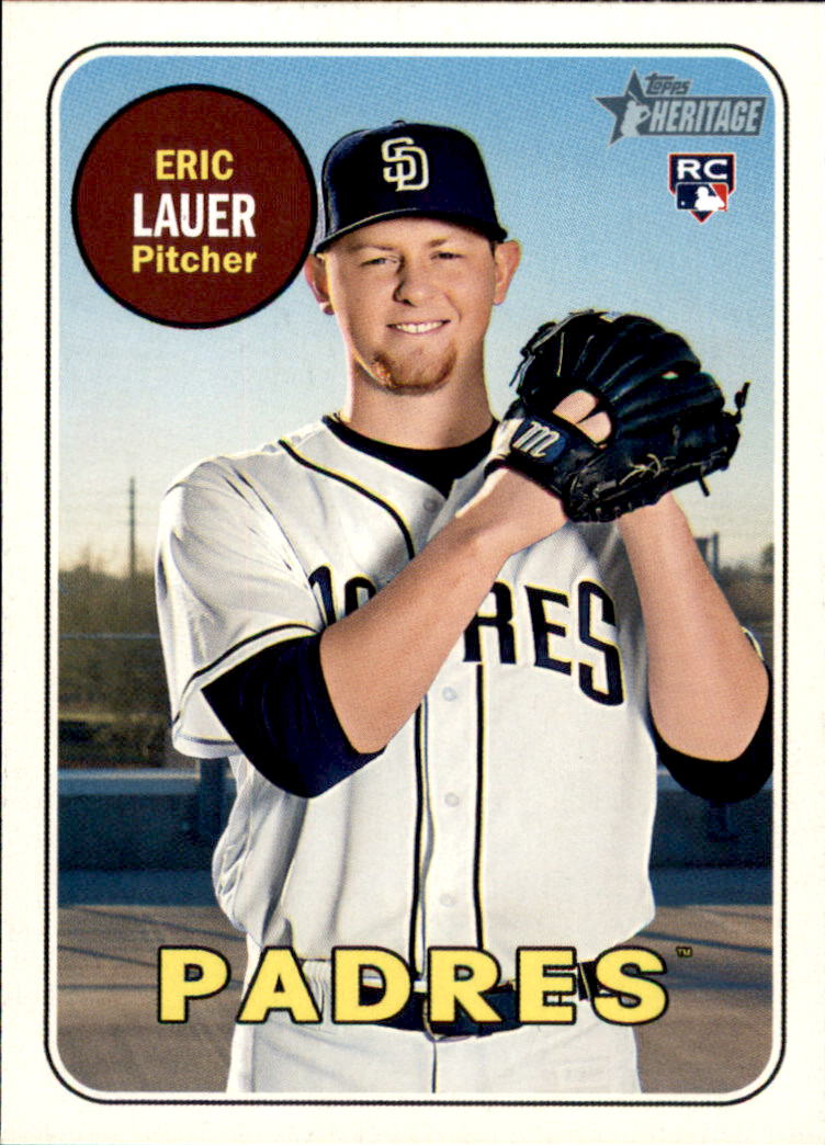 2018 Topps Heritage #685 Eric Lauer RC
