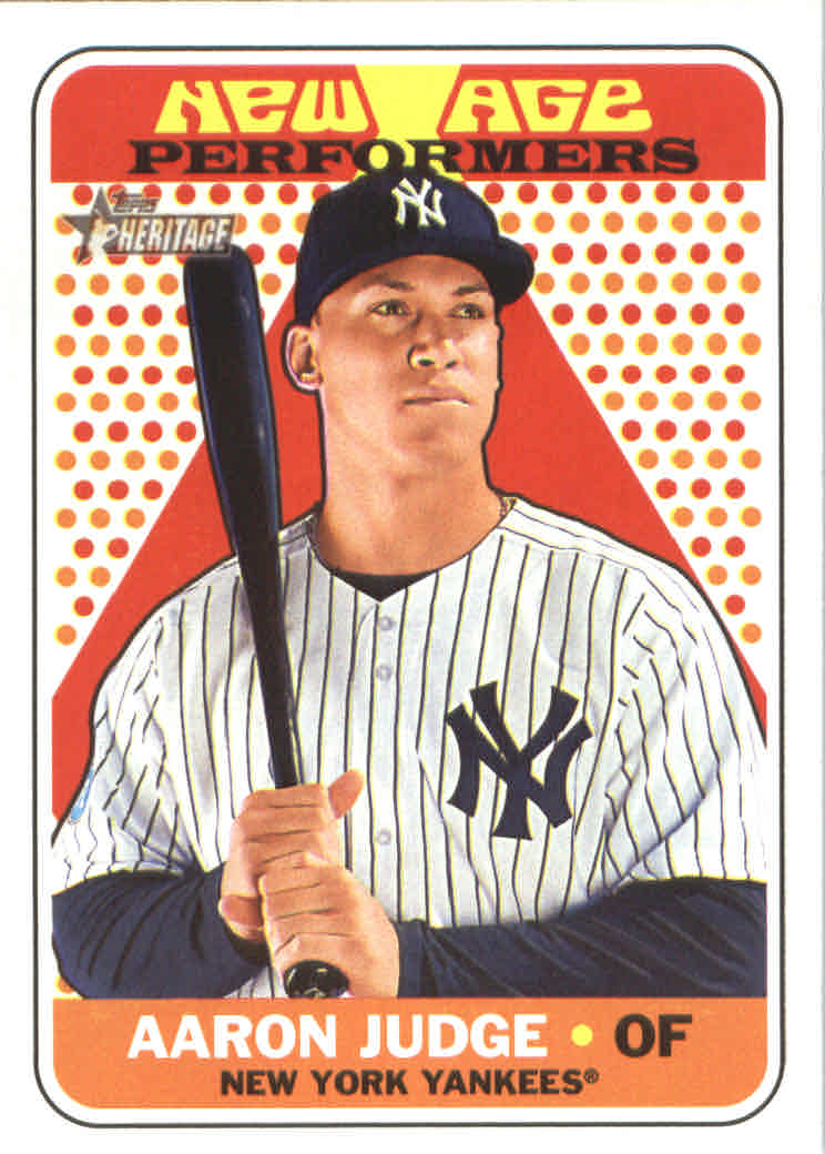 2018 Topps Heritage New Age Performers #NAP5 Aaron Judge