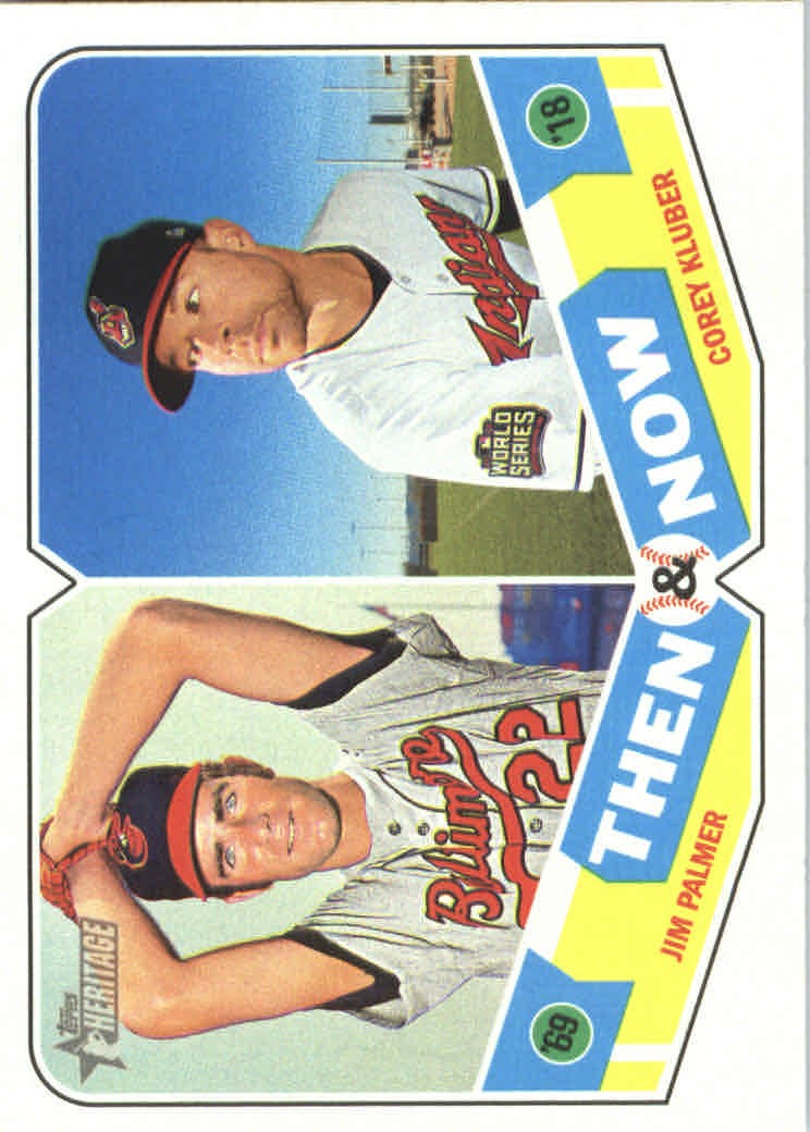 2018 Topps Heritage Then and Now #TN4 Corey Kluber/Jim Palmer