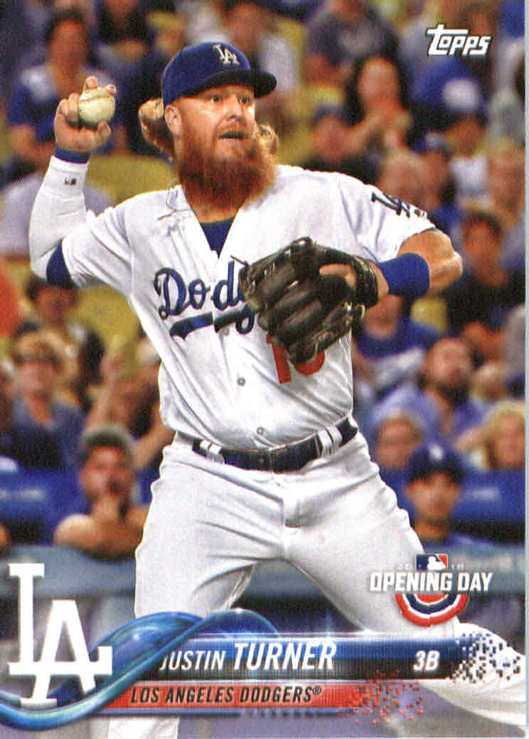 635be5885 2018 Topps Opening Day  166 Justin Turner - NM-MT - Brent s Sports ...