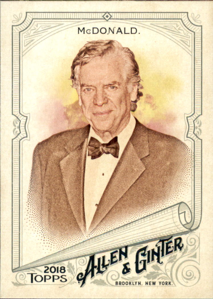 2018 Topps Allen and Ginter #218 Christopher McDonald