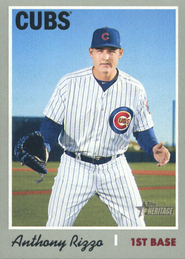 2019 Topps Heritage #406 Anthony Rizzo SP