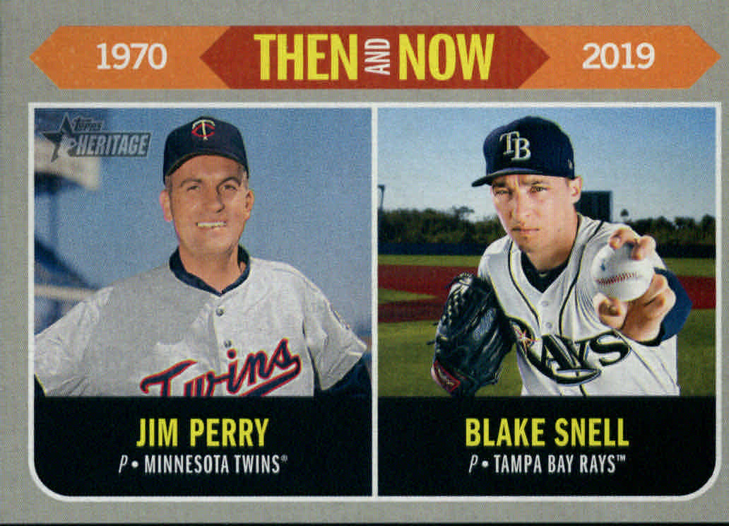 2019 Topps Heritage Then and Now #TN2 Jim Perry/Blake Snell