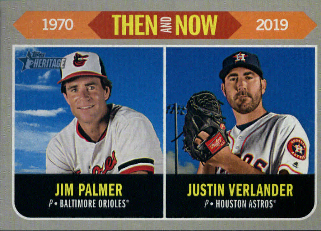 2019 Topps Heritage Then and Now #TN15 Jim Palmer/Justin Verlander