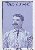 1886 Giants Old Judge N167 #9 Tim Keefe