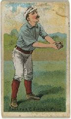 1887 Buchner Gold Coin N284 #74B Ed Andrews:/Philadelphia */(Catching& hands/wai