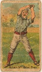 1887 Buchner Gold Coin N284 #82B Joel Mulvey:/Philadelphia */(Hands together/abo