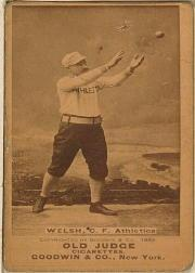 1887-90 Old Judge N172 #546 Curtis Welch A's
