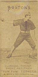 1888 August Beck N403 #7B John Clarkson/Throwing